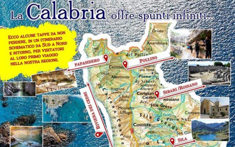 L'omaggio di Naturium alla Calabria con una mappa in regalo ai turisti