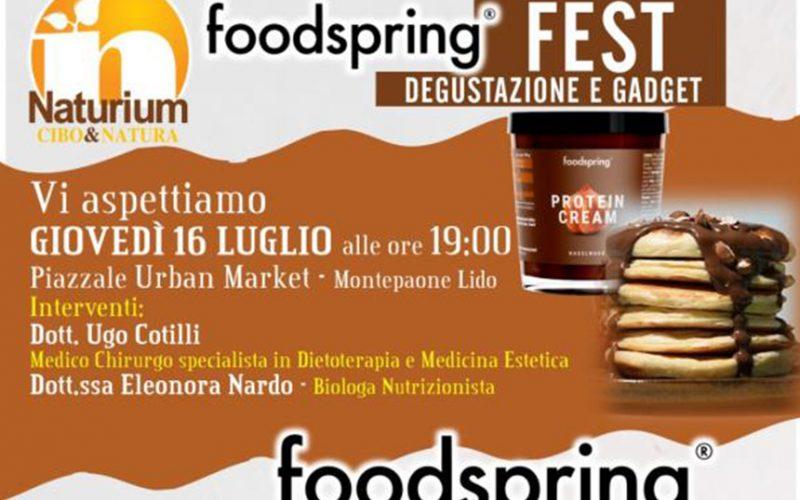 A Montepaone il 16 luglio consigli di benessere e degustazioni al Foodspring Fest